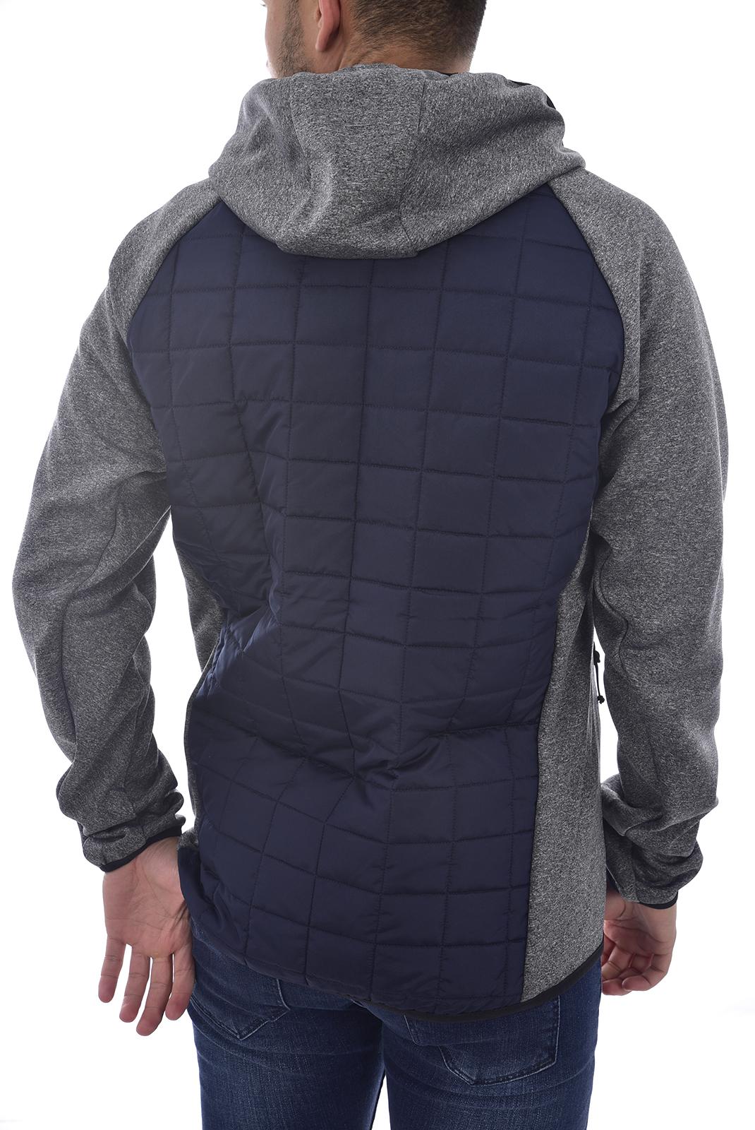 Vestes zippées  Jack & Jones MULTI QUILTED JACKET NAVY BLAZER