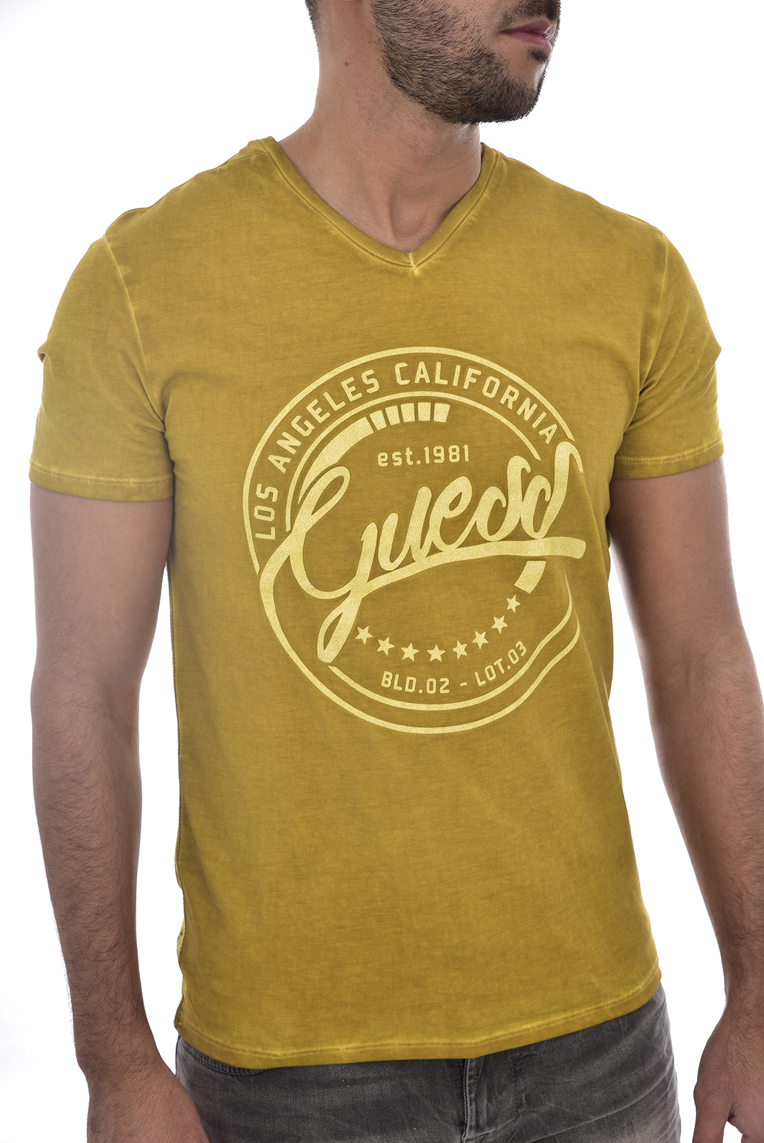 Tee-shirts  Guess jeans M83I25 J1300 F2S1 GOLD CASHMERE