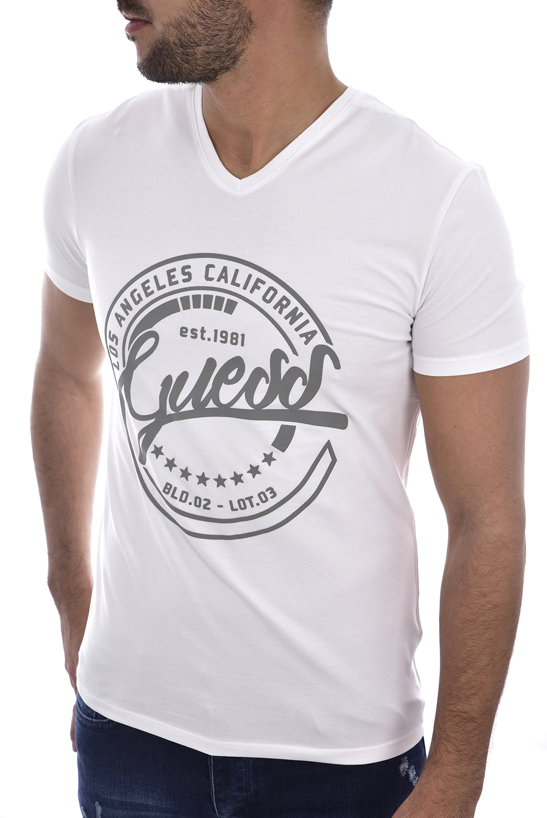 Tee-shirts  Guess jeans M83I25 J1300 TWHT
