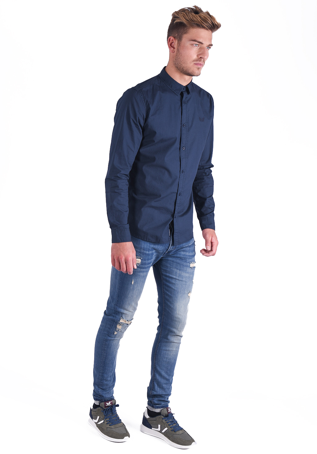 Chemises manches longues  Kaporal FITA NAVY
