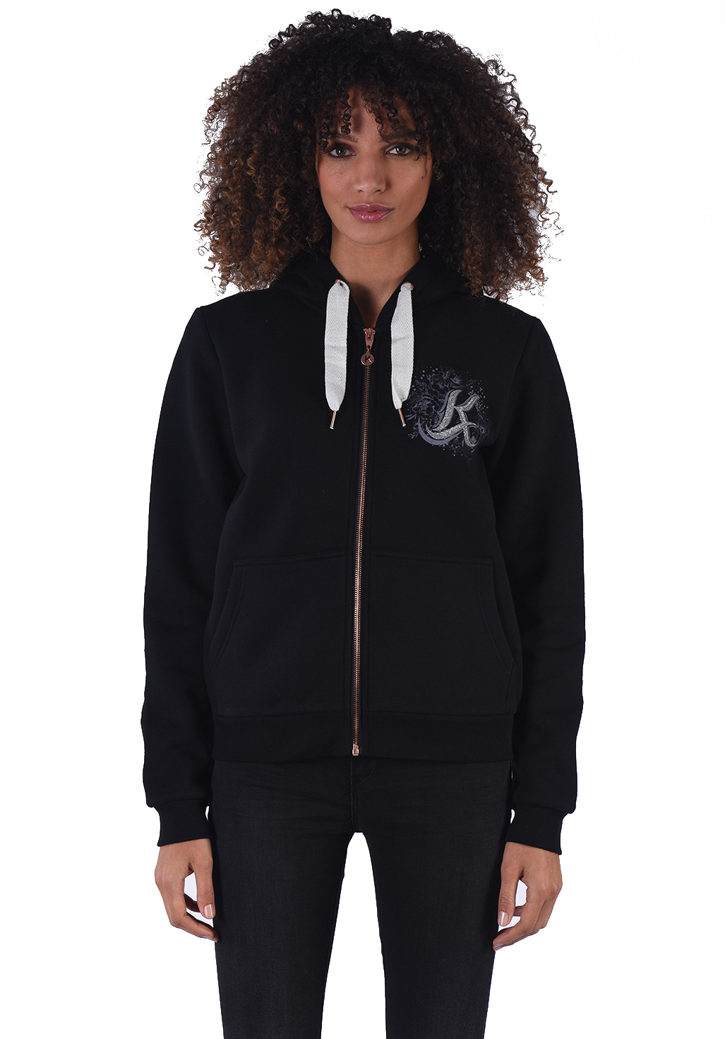 Sweat / sweat zippé  Kaporal TOMAT BLACK