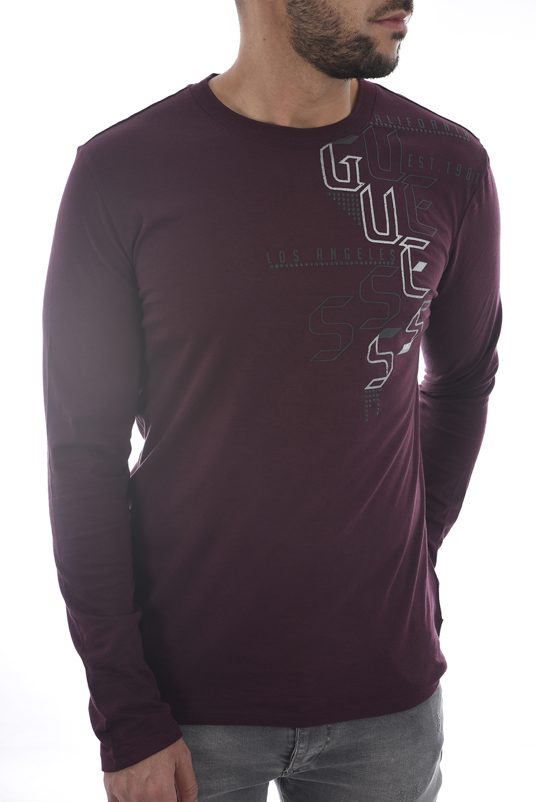Tee-shirts  Guess jeans M84I19 I3Z00 REGAL PLUM