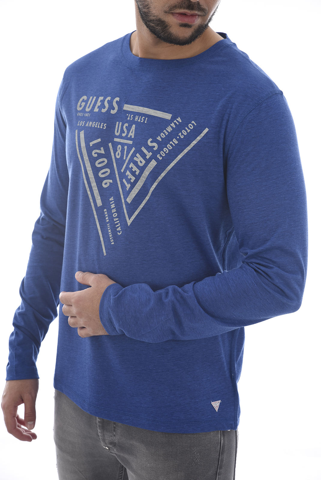 Tee-shirts  Guess jeans U84I03 JR02Y A743 Electric BLUE