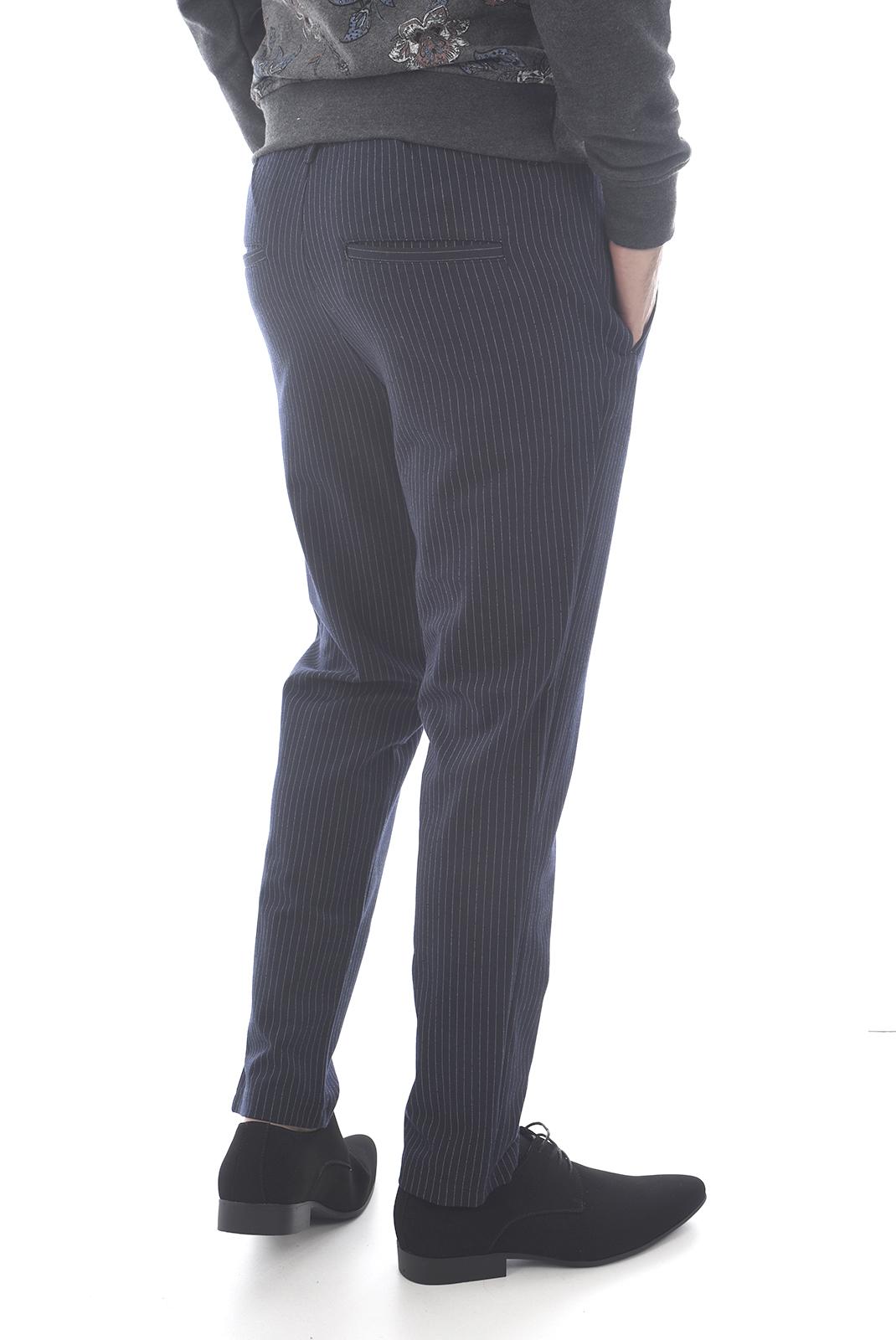 slim / skinny  Jack & Jones VEGA TRASH WW PINSTRIPE Navy Blazer