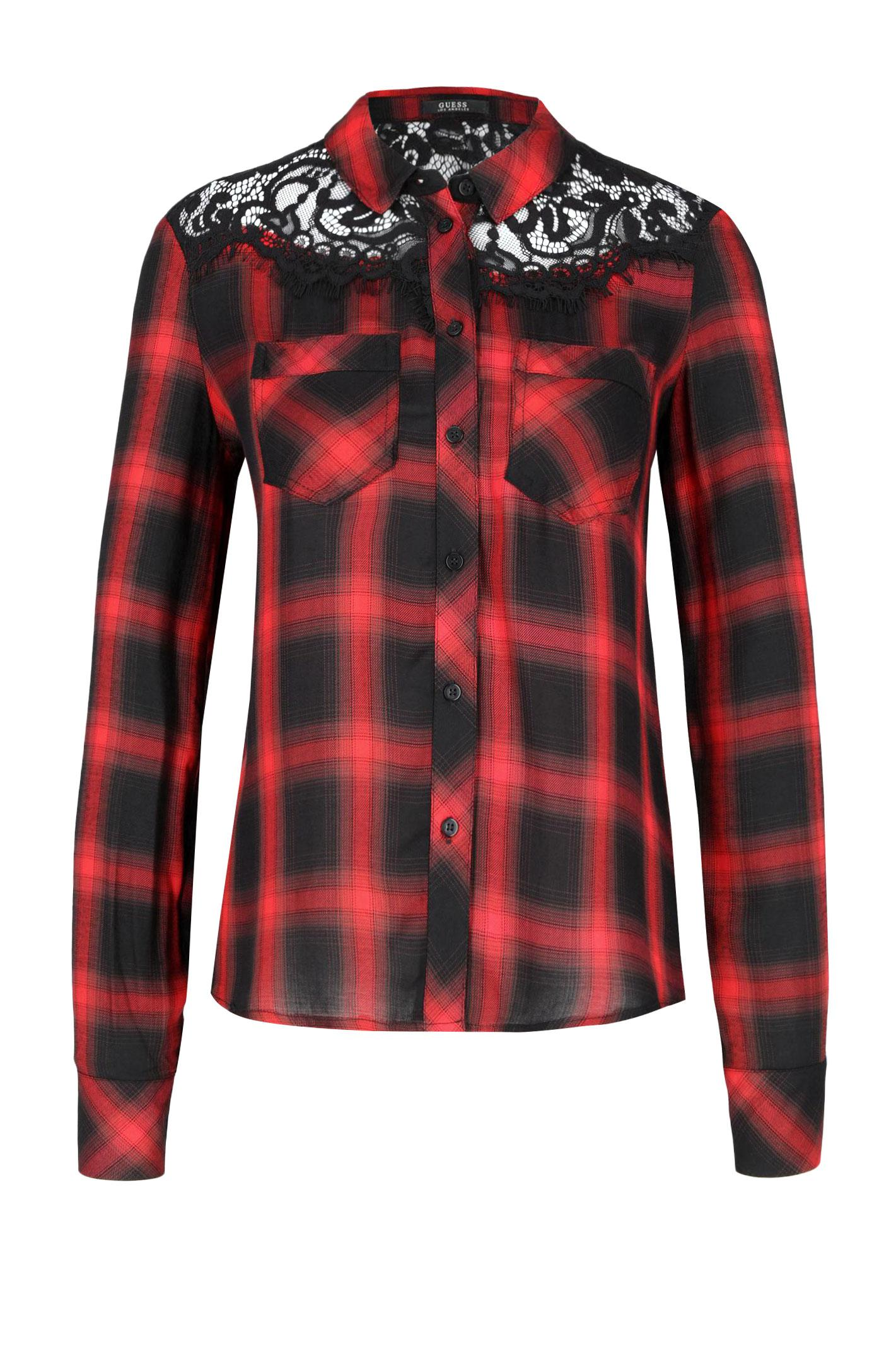 Chemisiers  Guess jeans W84H53 WAOQ0 L507 RED