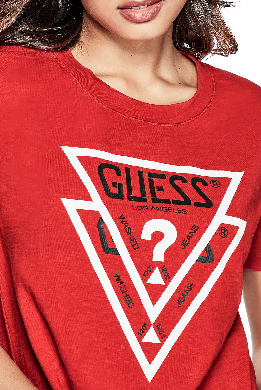 Tee shirt  Guess jeans W73I0 FR3540 A553 RED