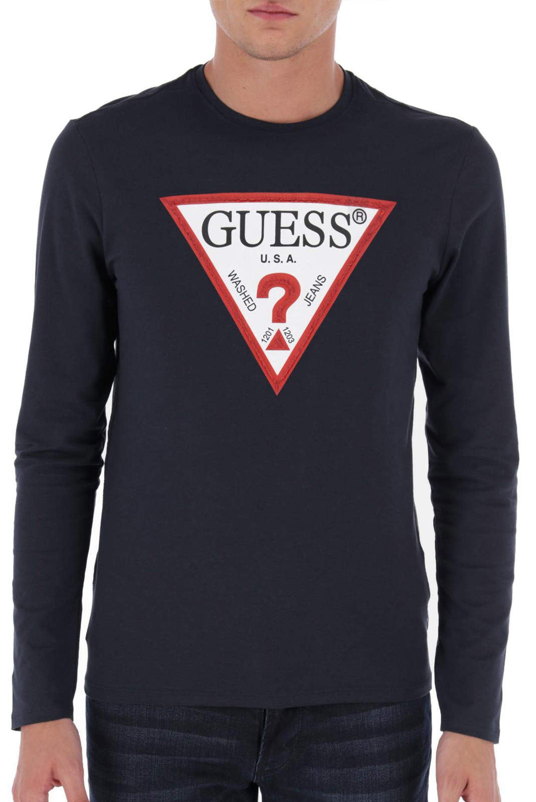 Tee-shirts  Guess jeans M84I17 J1300 G720 BLUE NAVY