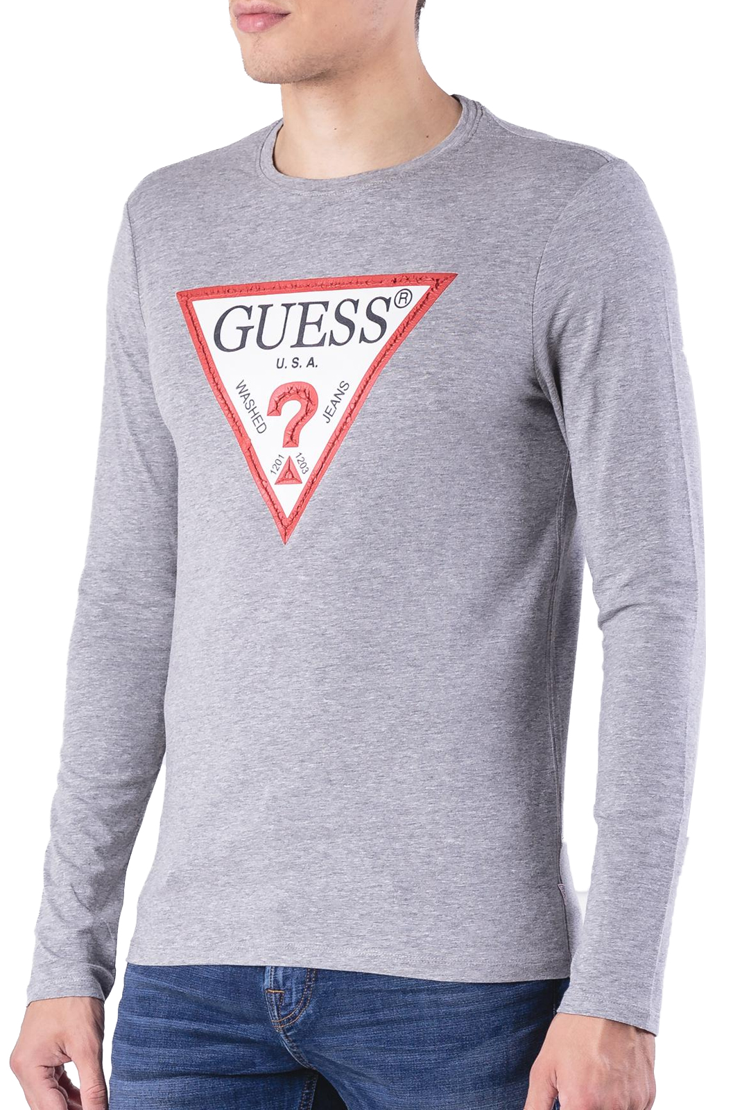 Tee-shirts  Guess jeans M84I17 J1300 STONE HEATHER GREY