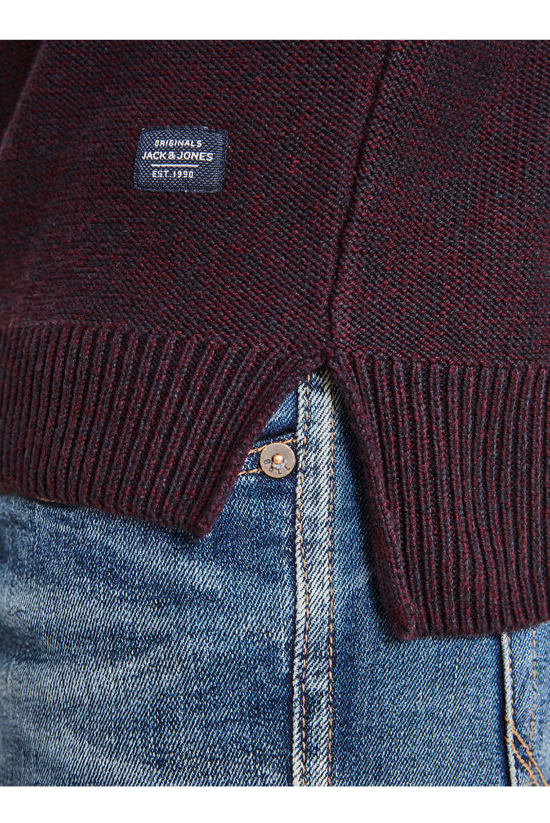 Pulls  Jack & Jones ERIS KNIT HOOD Port Royale