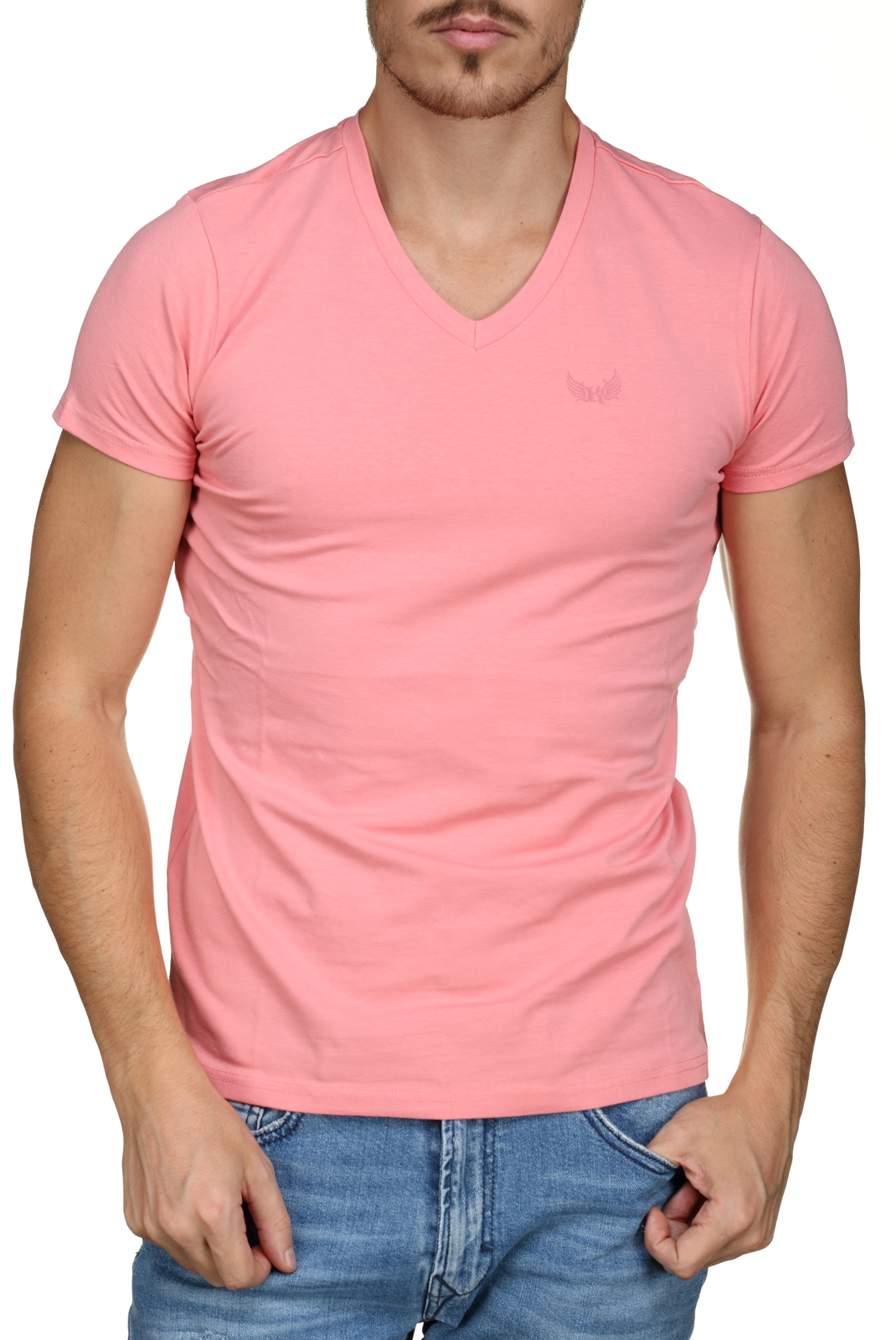 T-S manches courtes  Kaporal GIFT H18M11 LIGHT GREY/PINK
