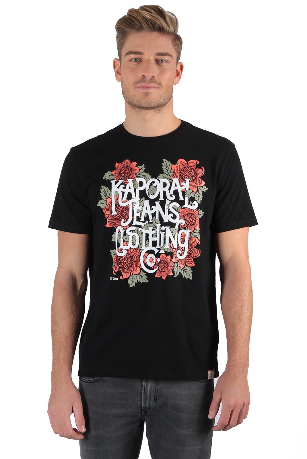 Tee-shirts  Kaporal PONEK BLACK