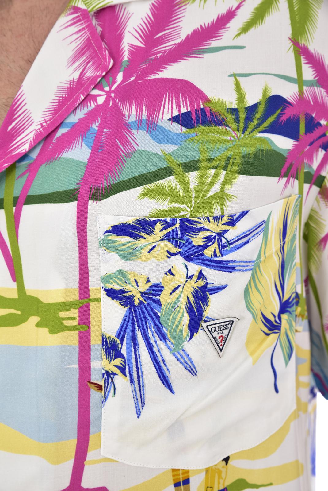 Chemises manches courtes  Guess jeans F92H03 WO02S SNBC