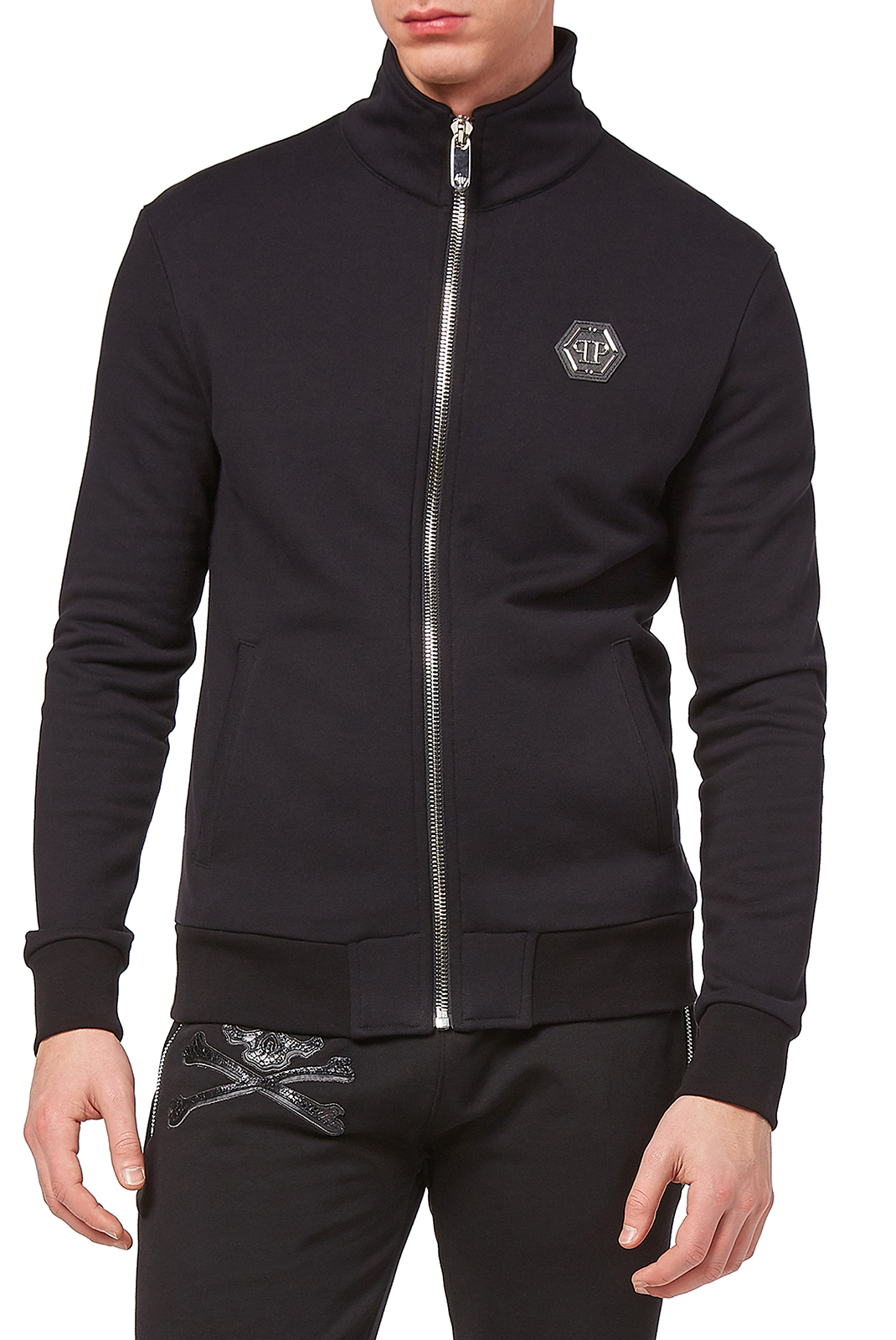 Vestes zippées  Philipp plein MJB0468 SEVENTY EIGHT 02 BLACK