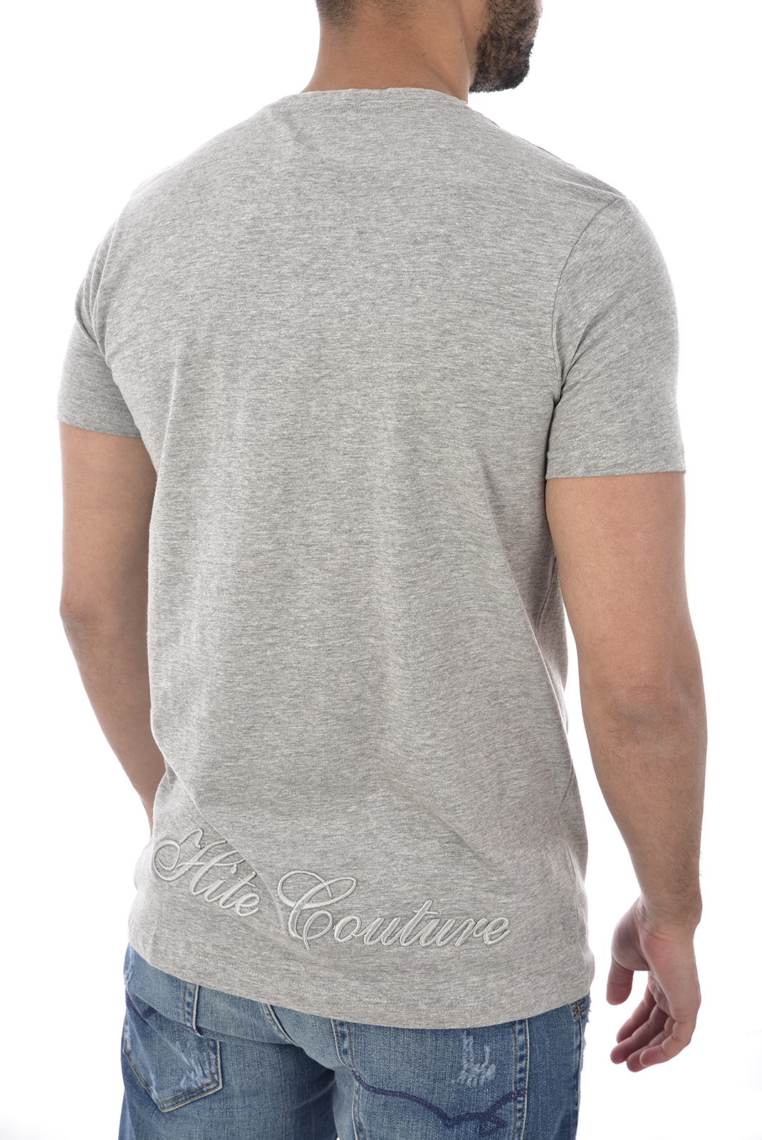 T-S manches courtes  Hite couture MORNIL LT GREY MEL