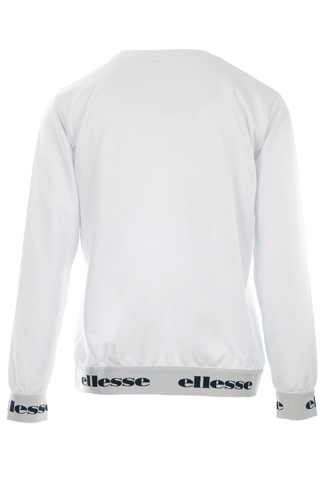 Sweat / sweat zippé  Ellesse EH F SWS COL ROND 2 WHITE