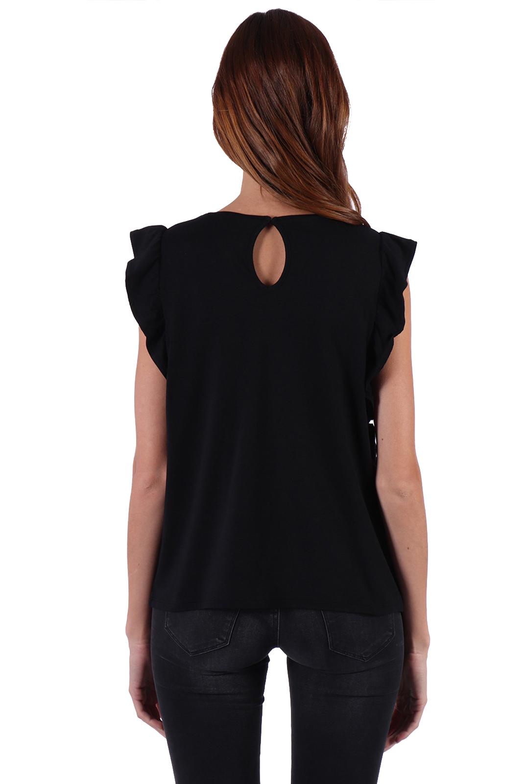 Tee shirt  Kaporal FLIP BLACK