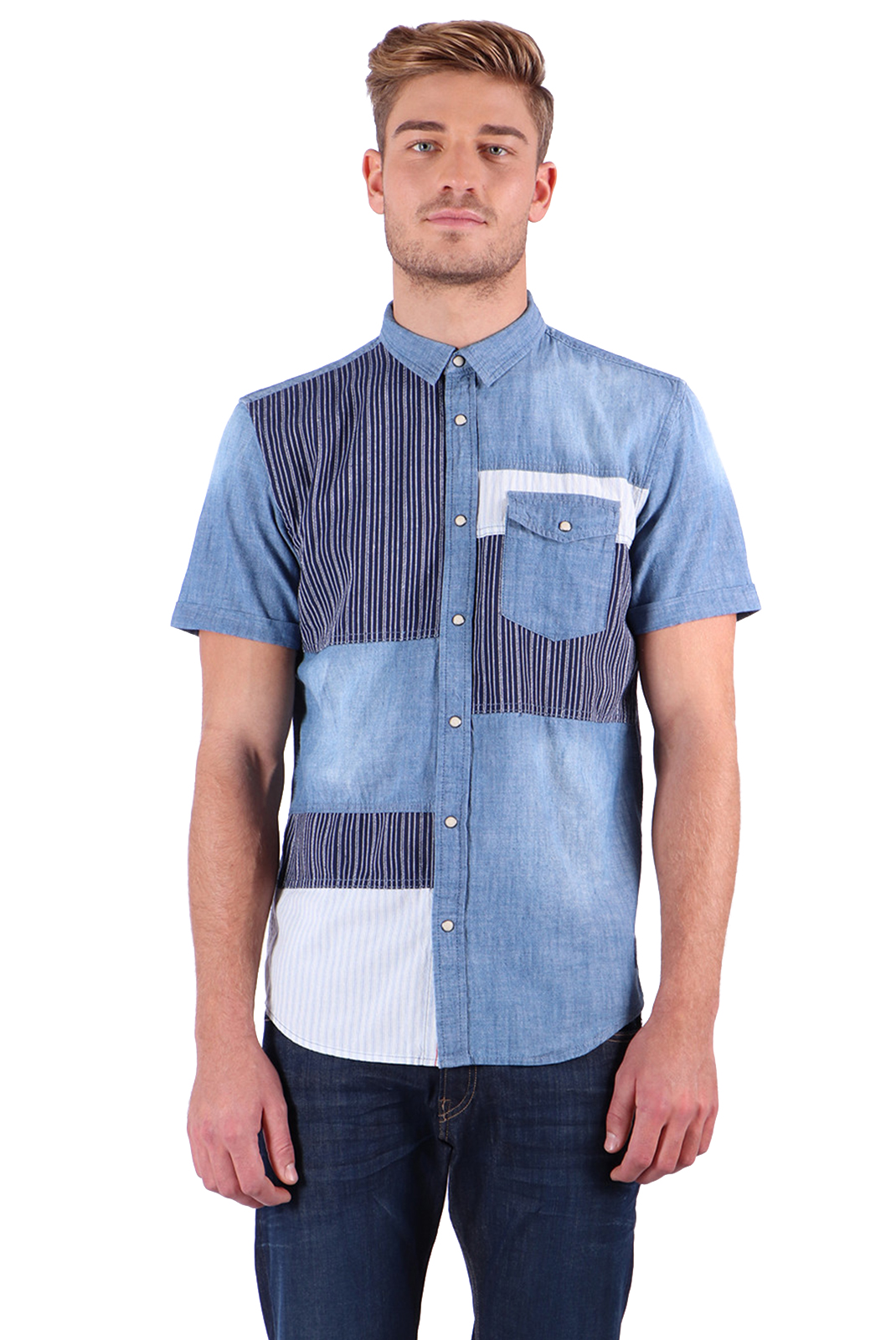 Chemises manches courtes  Kaporal MIZA BLUE