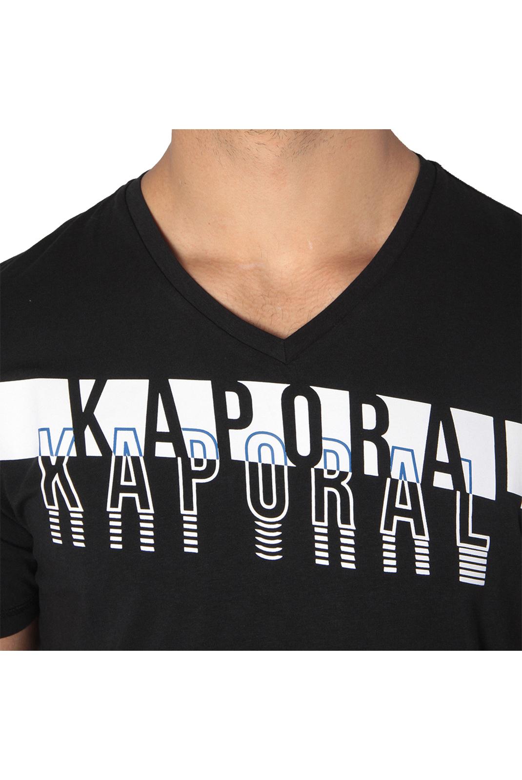 T-S manches courtes  Kaporal MOLCO BLACK