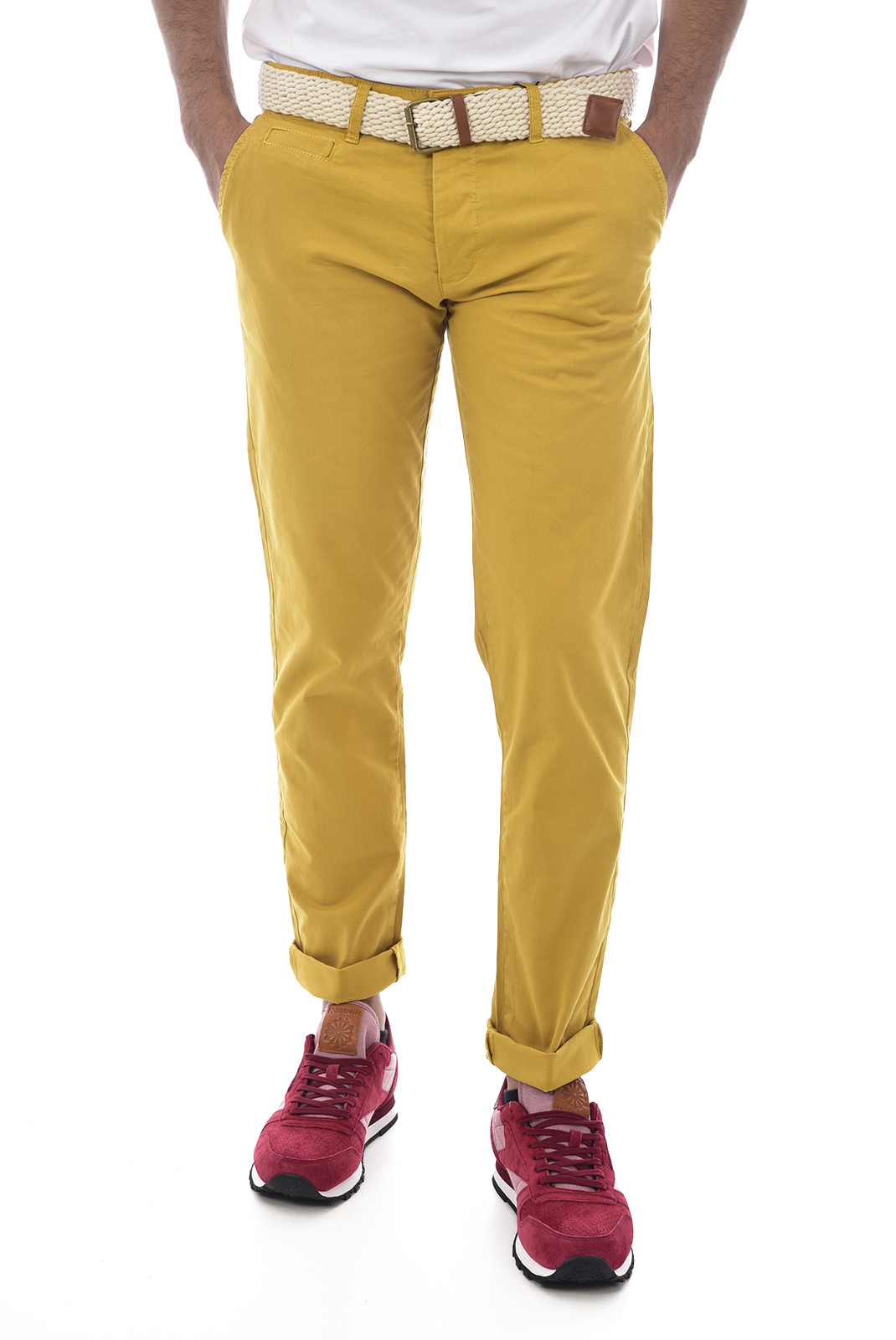 Pantalons chino/citadin  Backlight ALLEN MOUTARDE