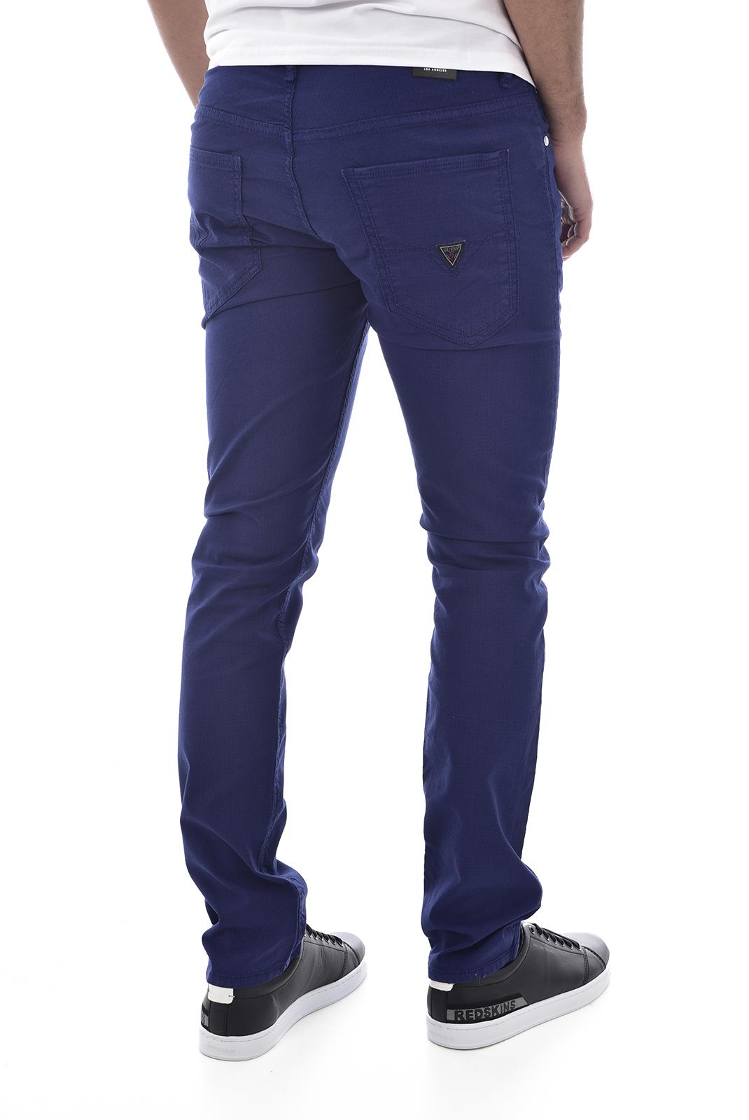Pantalons chino/citadin  Guess jeans M92AN1WBFD0 miami G7K5 BLEU