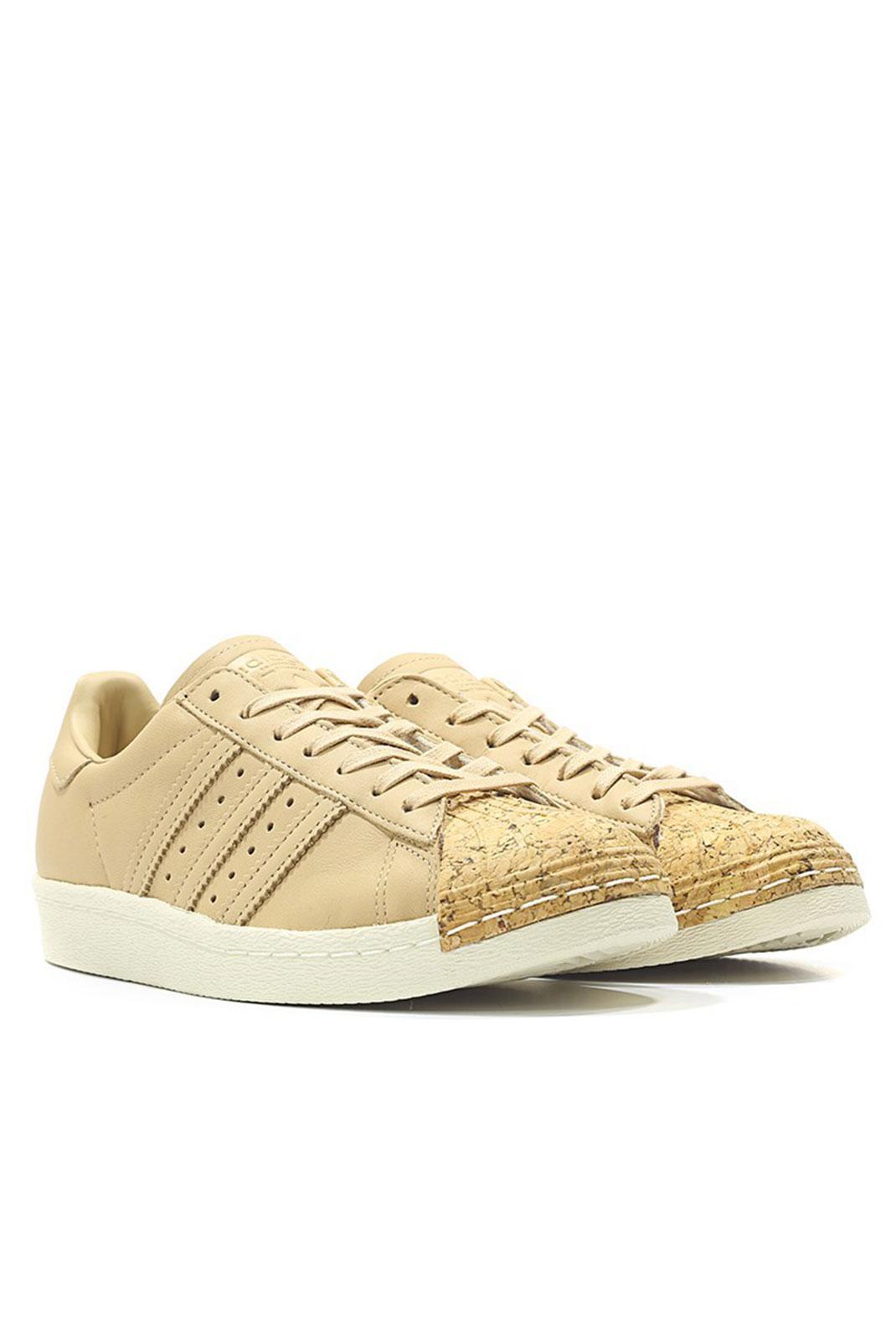 Baskets / Sneakers  Adidas BA7604 SUPERSTAR 80S CORK W BEIGE
