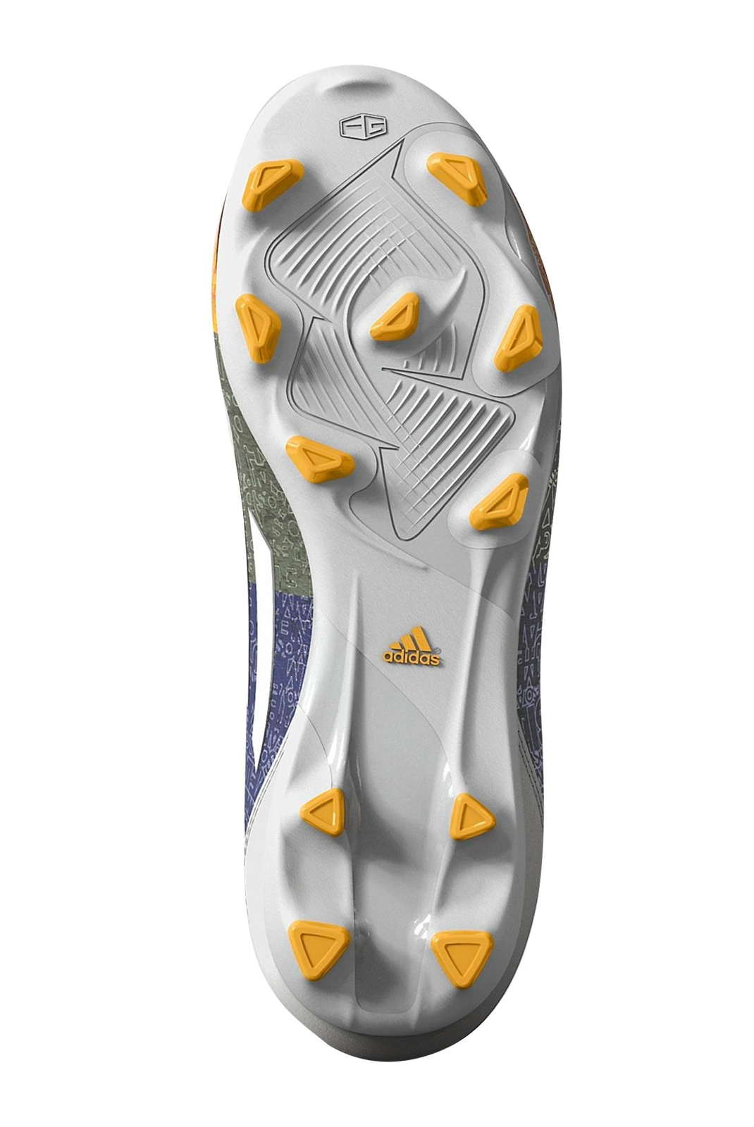 Chaussures  Adidas M21765 F10 FG J (Messi) BLACK / YELLOW