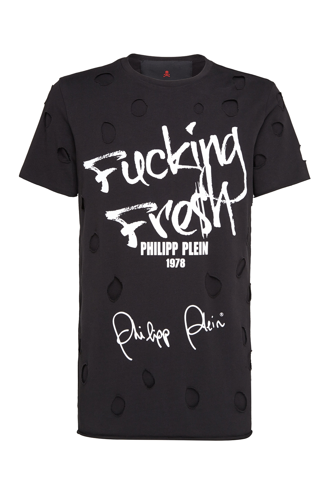 Tee-shirts  Philipp plein MTK2482 Round neck ss fresh BLACK