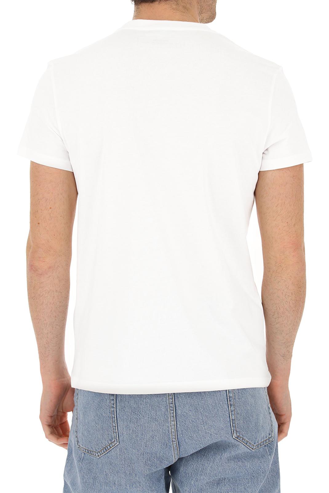 Tee-shirts  Balmain RH11601 WHITE/YELLOW