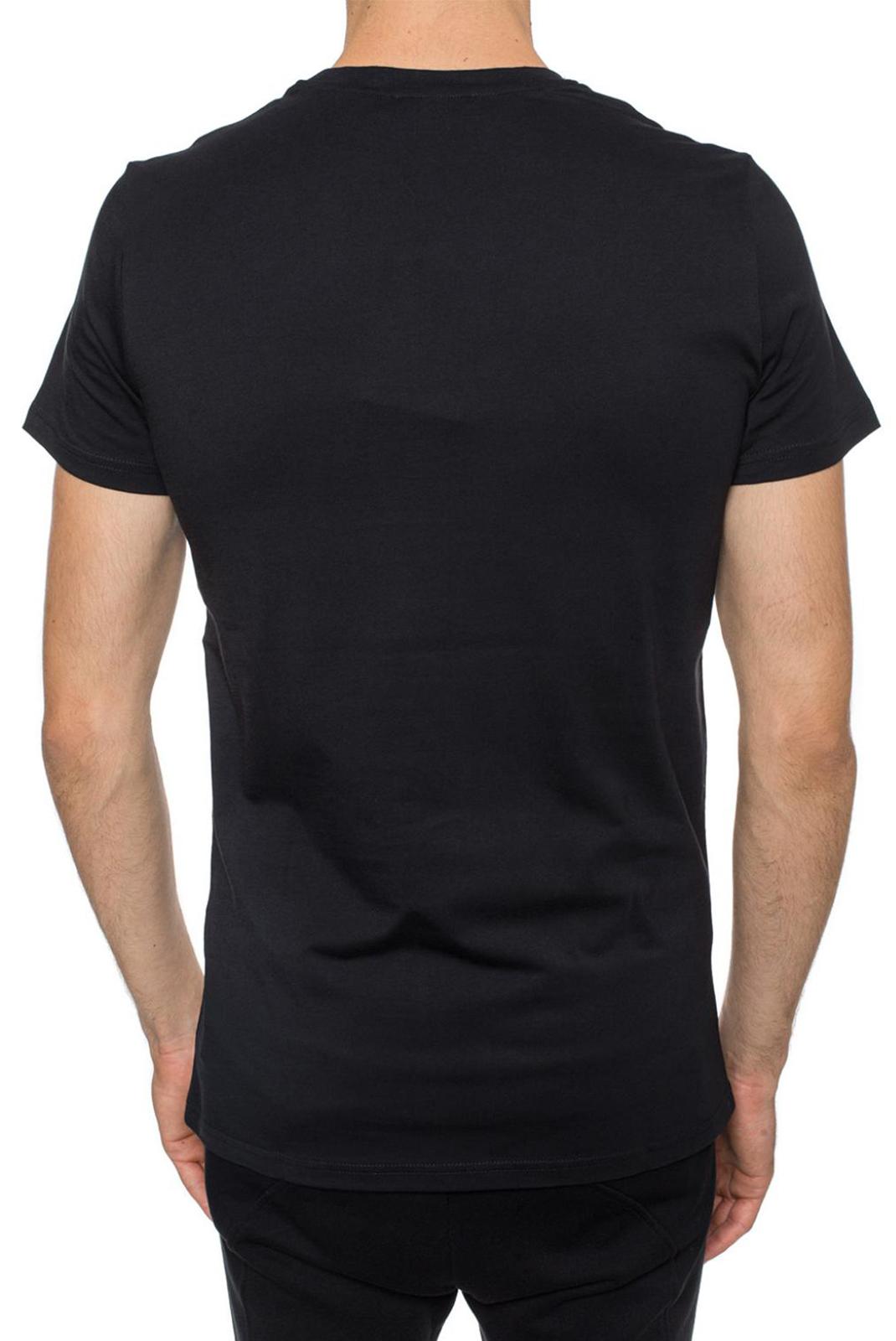 Tee-shirts  Balmain W8H8601 BLACK/BLACK