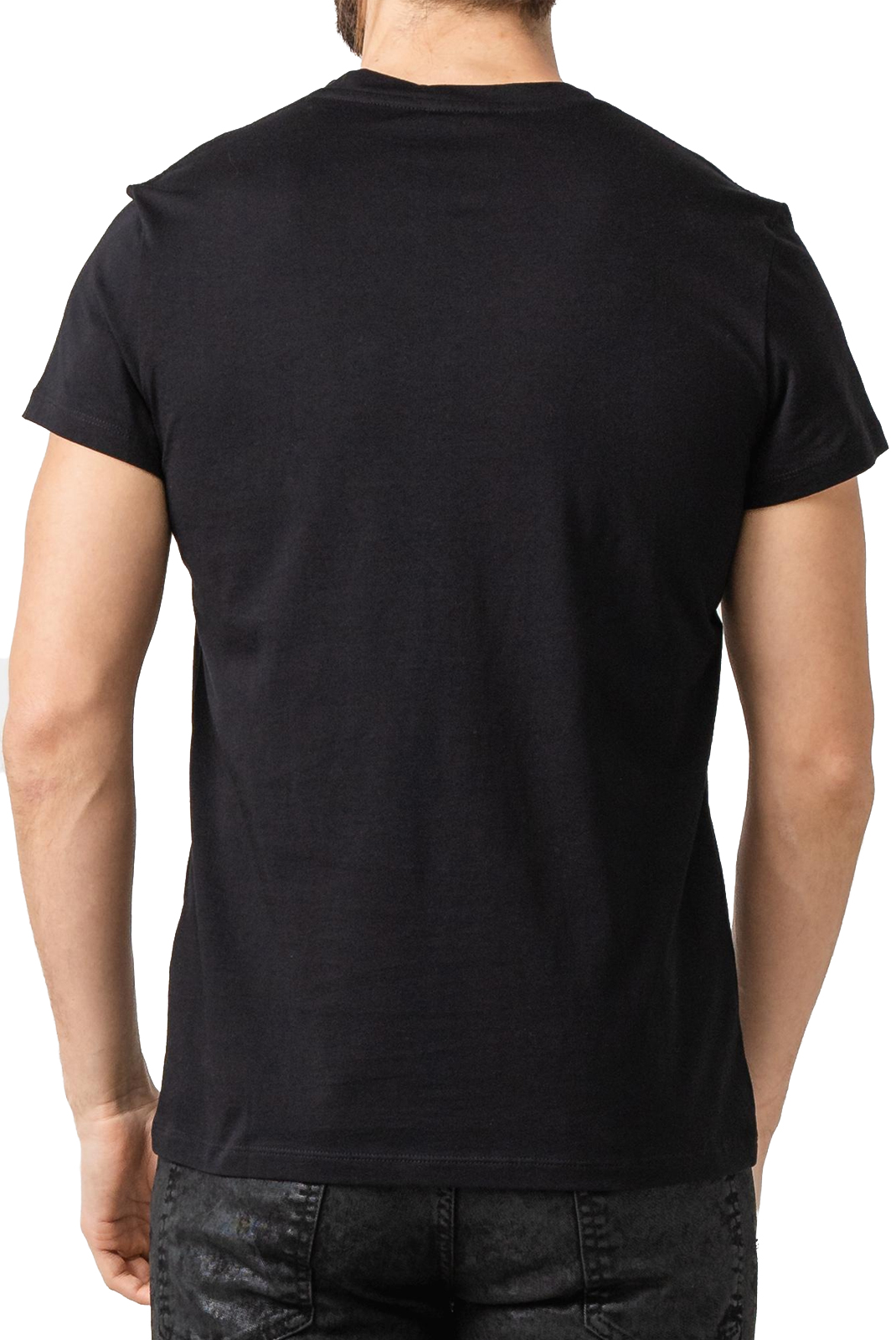 Tee-shirts  Balmain RH11601 BLACK/OR