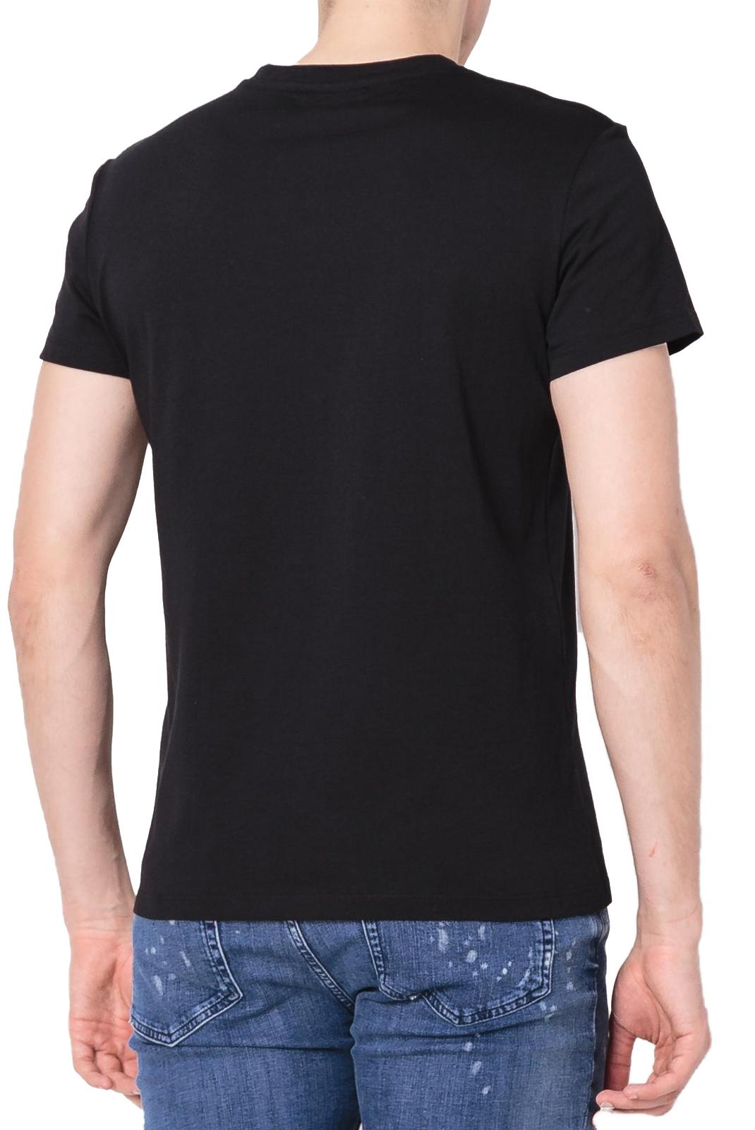 Tee-shirts  Balmain W8H8601 BLACK/ARGENT