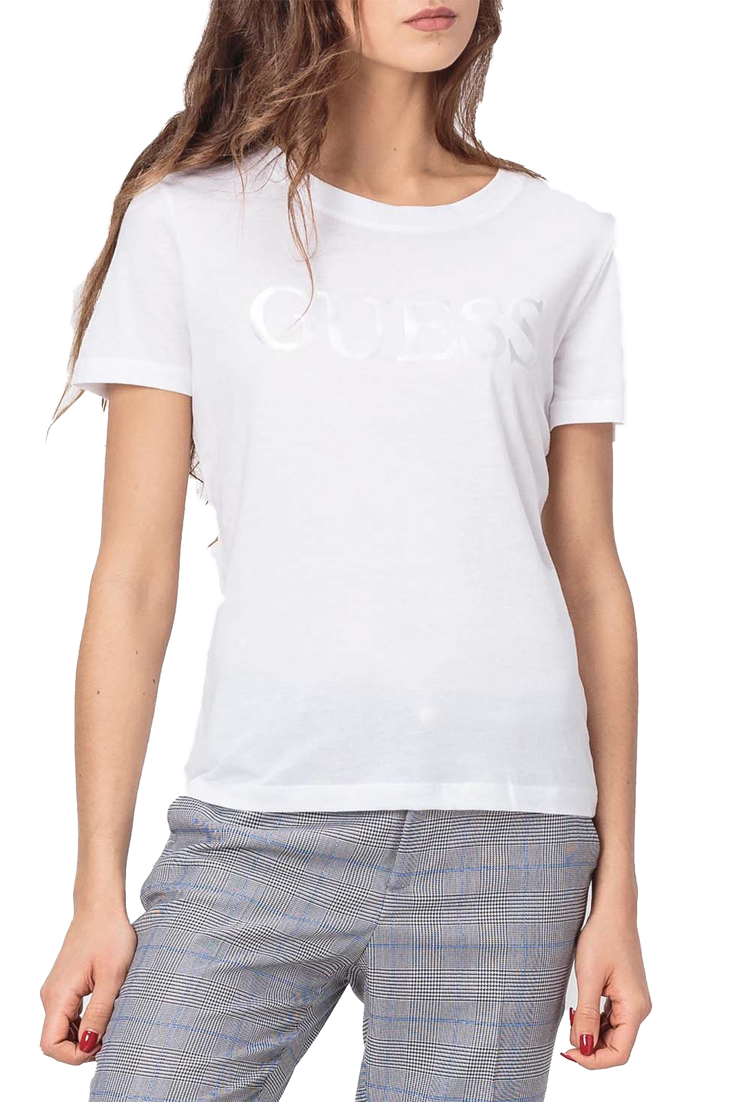 Tee shirt  Guess jeans W91I45 K7WS0 TRUE WHITE A000