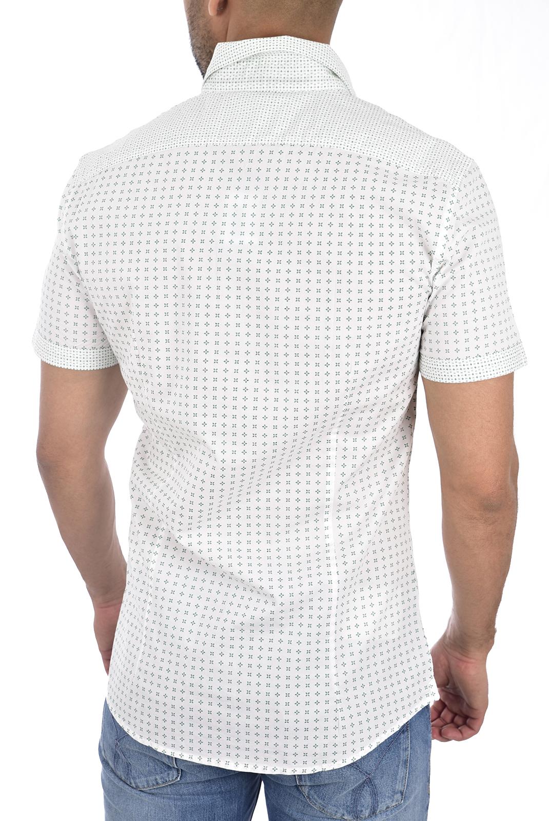 Chemises manches courtes  Guess jeans M92H17 W8BX0 PWZ0 WHT MIXED PRINT