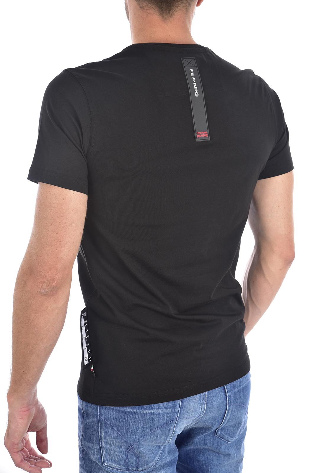 Tee-shirts  Philipp plein MTK3075 Platinum Cut Round Neck Skull BLACK