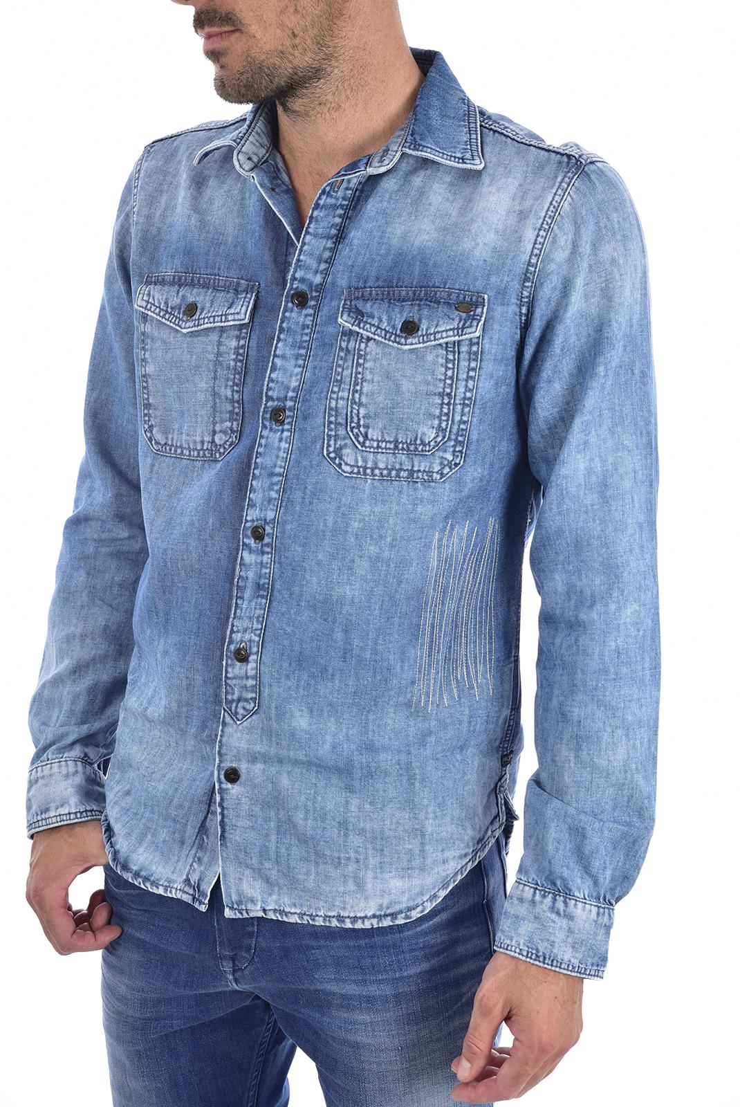 Chemises manches longues  Pepe jeans PM302883 bleu