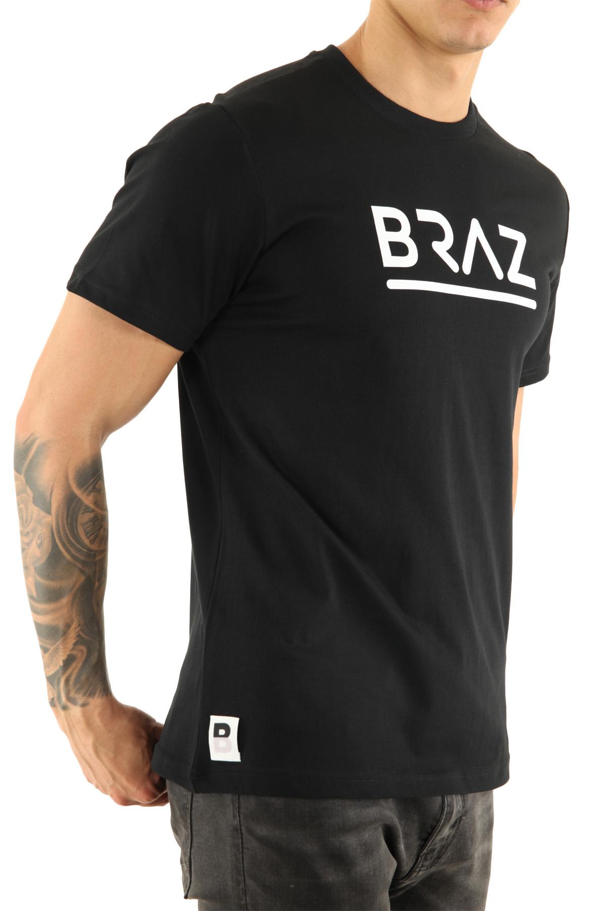 Tee-shirts  Braz T-SHIRT BR 213219 BLACK