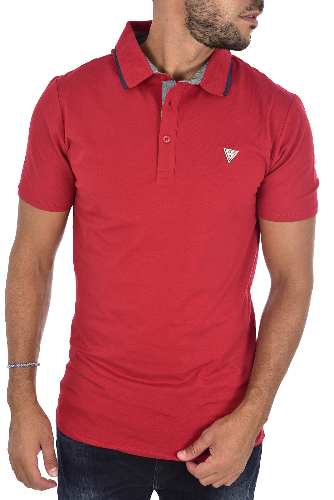 Polos  Guess jeans M94P35 J1300 ROUGE/TULIP RED