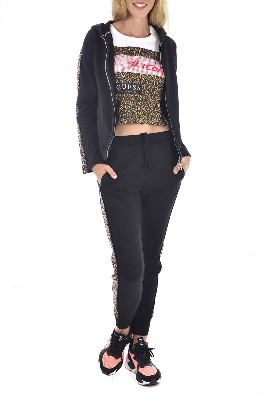 Pantalons  Guess jeans O94A59 FL01I A996 NOIR