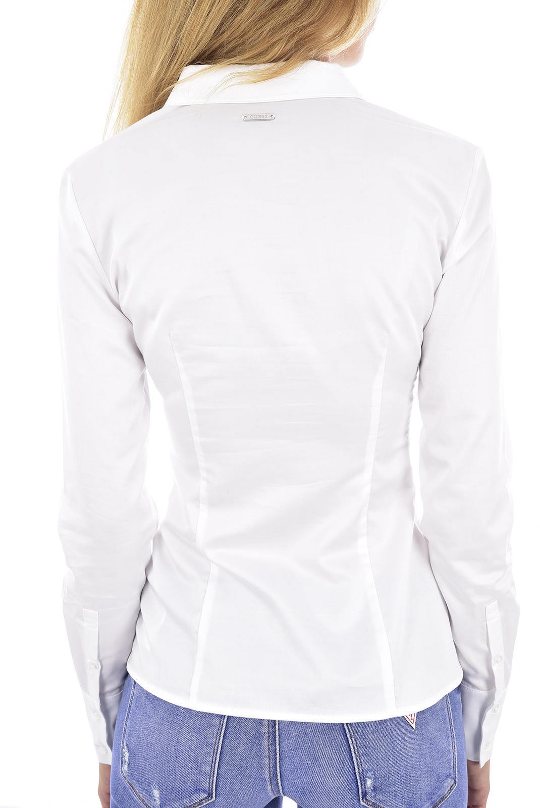 Chemisiers  Guess jeans W84H69 WAF10 LS VALERIA SHIRT TWHT