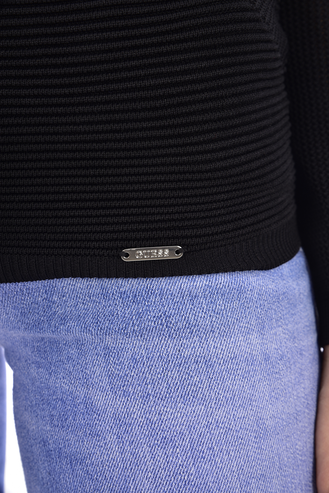 Pull  Guess jeans W73R64 Z1L50 LS VN MONICA SWTR A996 NOIR