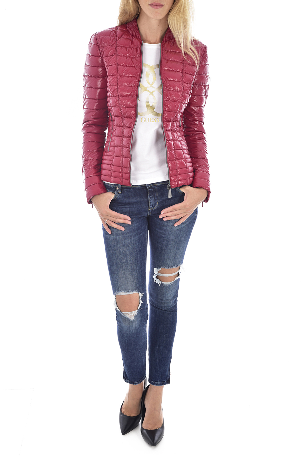 Blouson / doudoune  Guess jeans W94L1D WC270 RUSSIAN RED