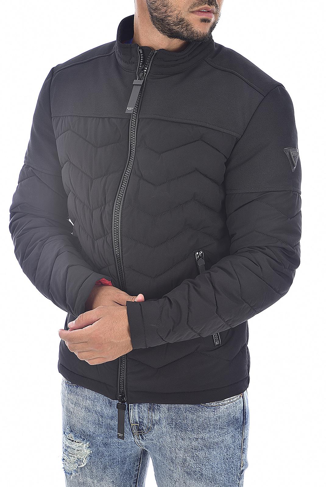 Blousons / doudounes  Guess jeans M94L49 W6NW1 Jet Black A996
