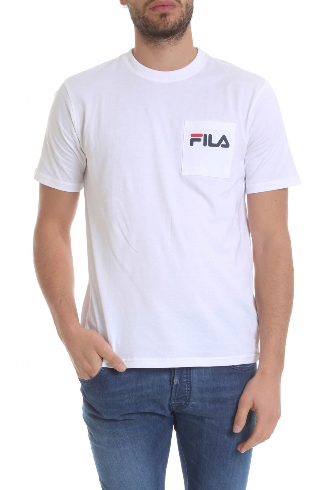 Tee-shirts  Fila 684472 curtis 1 WHITE