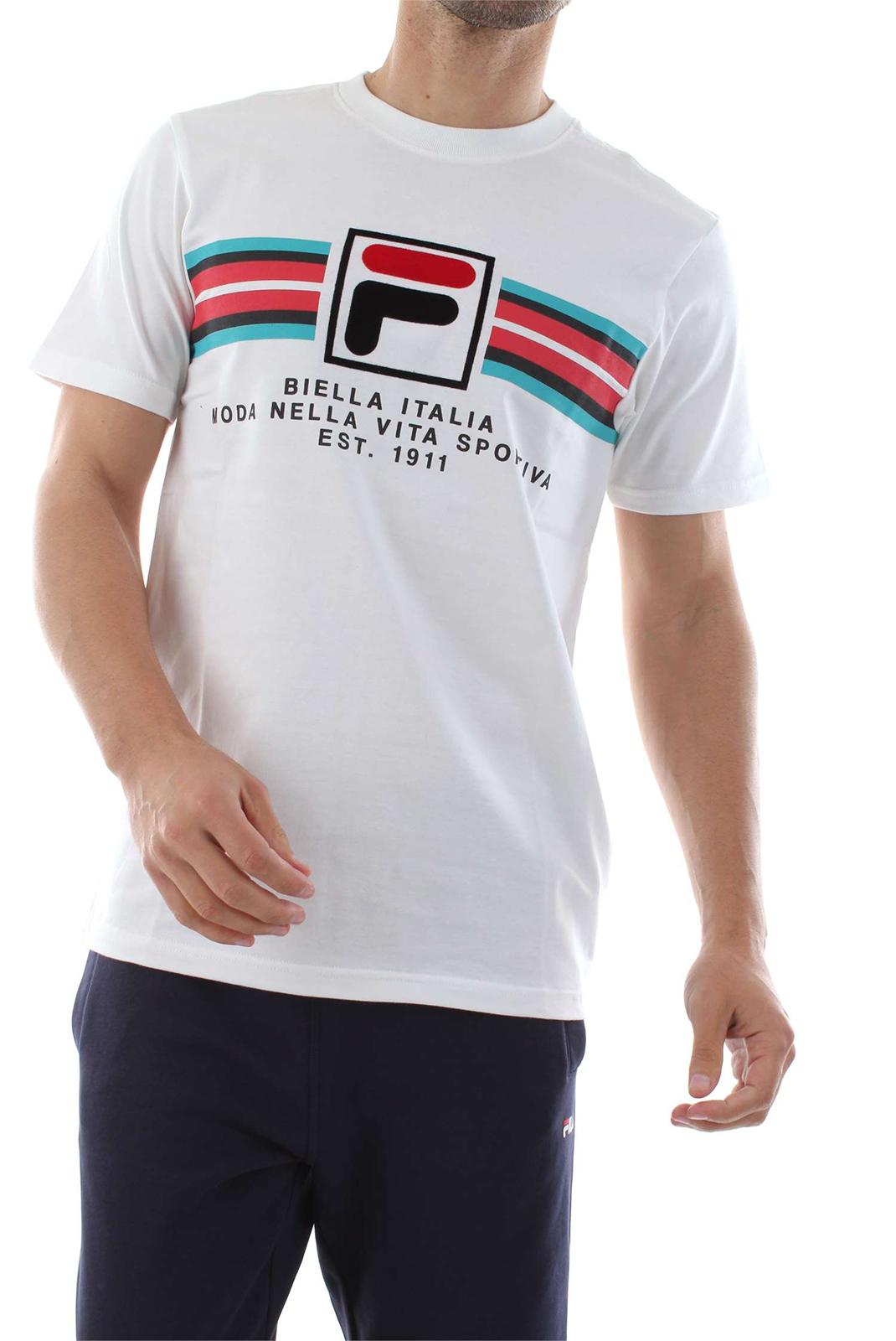 Tee-shirts  Fila 684499 mercedes 1 WHITE