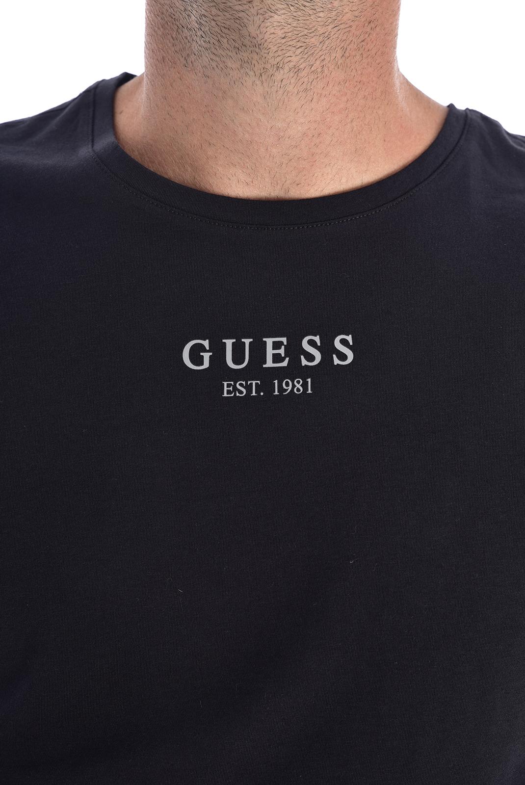 Tee-shirts  Guess jeans U94M00 JR00A A996 NOIR