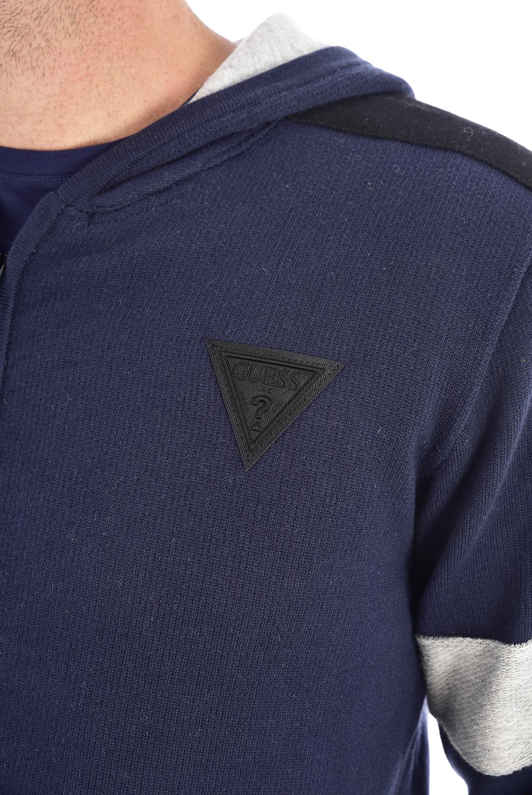 Vestes zippées  Guess jeans M94R59 Z2HL0 G720 Bleu navy