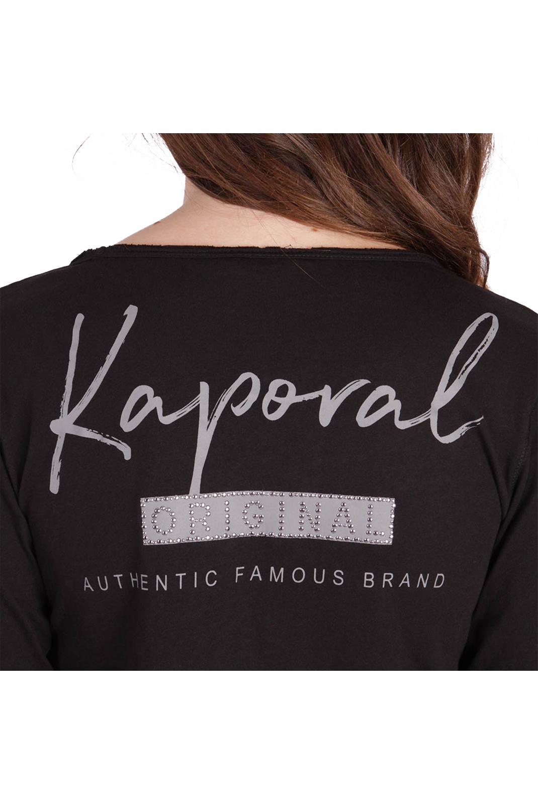 Tee shirt manches longues  Kaporal XOUTH BLACK