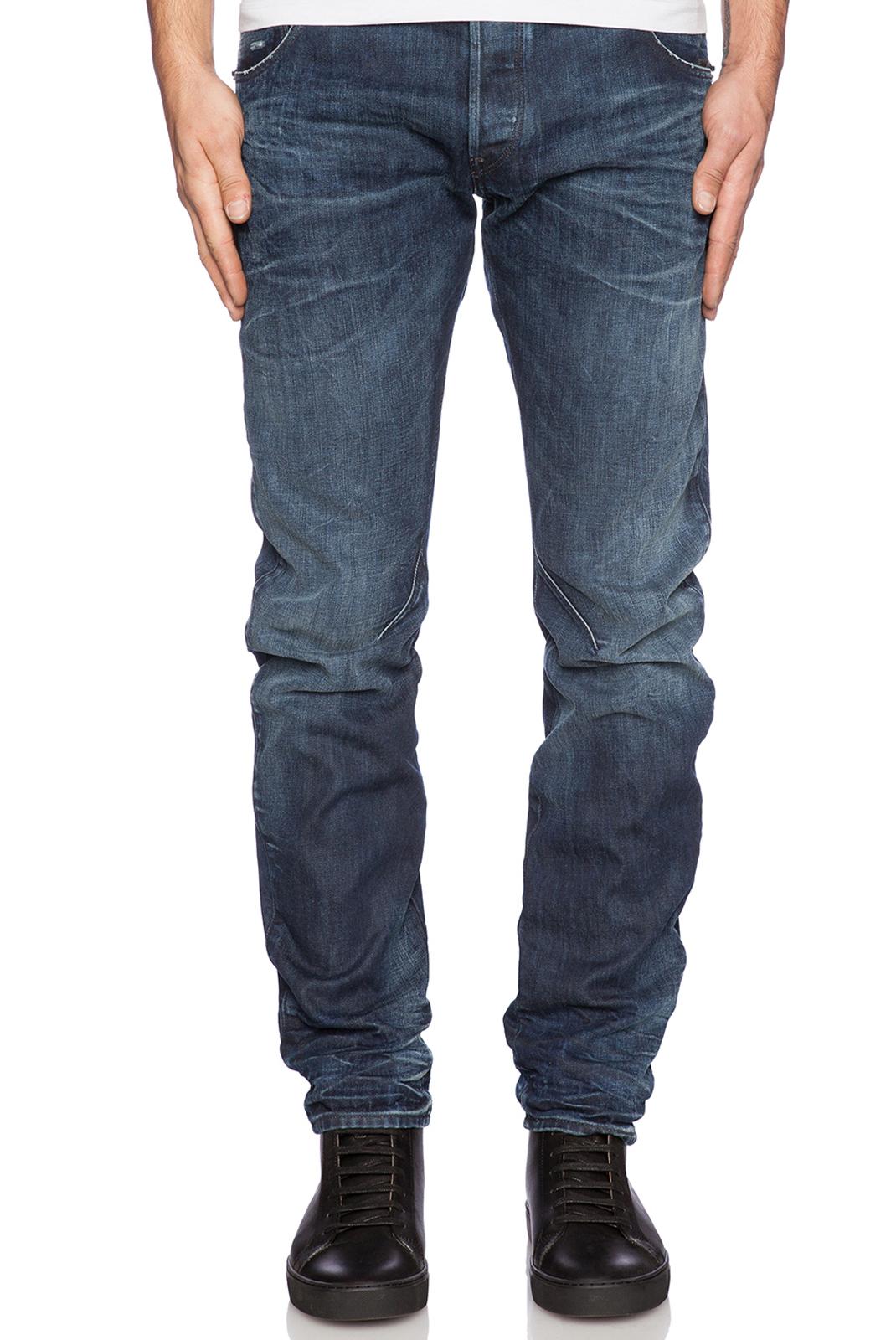Jeans  G-star 51031-6591-89 arc zip bleu