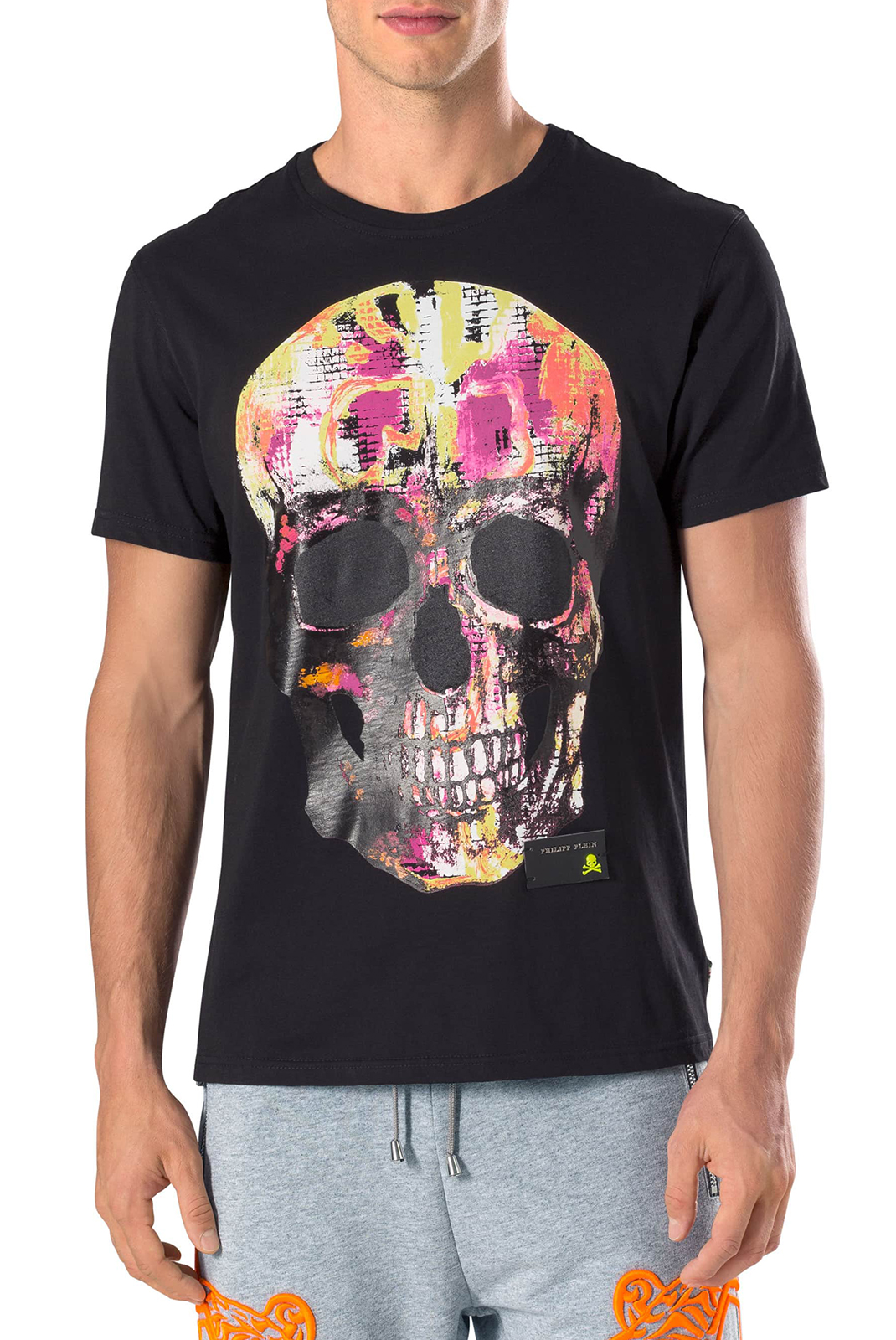 Tee-shirts  Philipp plein MTK1791 ROUND NECK SS NEED YOU BLACK
