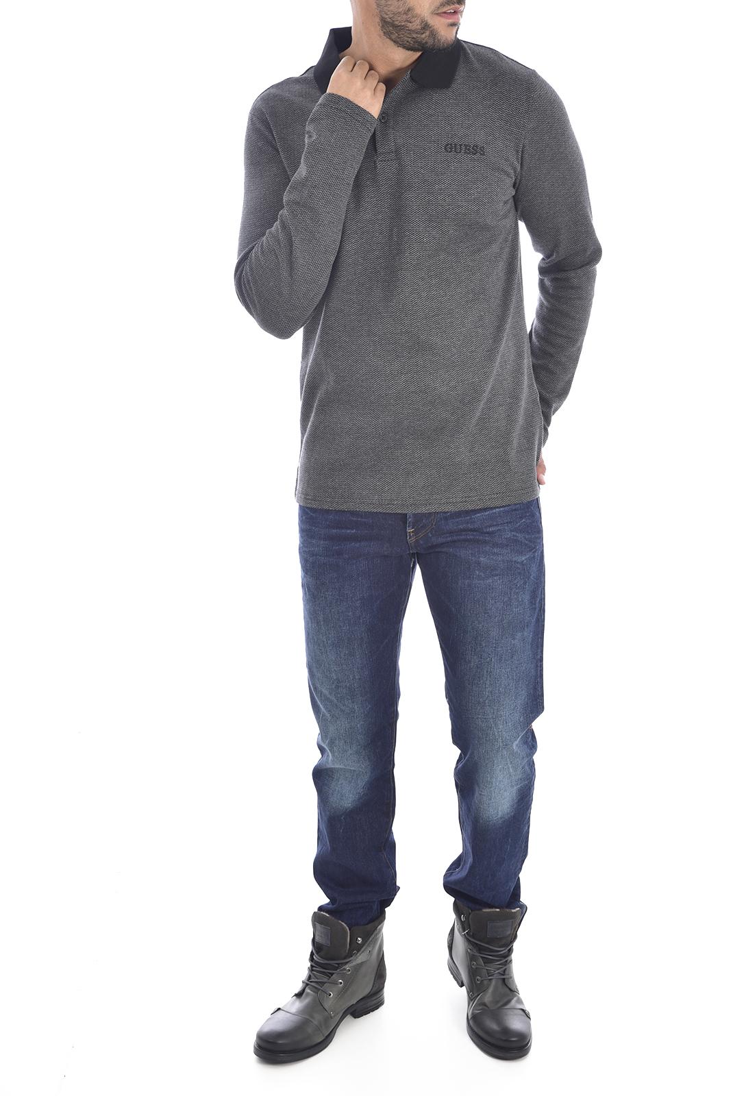 Polos  Guess jeans M94P40 K93R0 FY90 BLACK HERRINGBONE